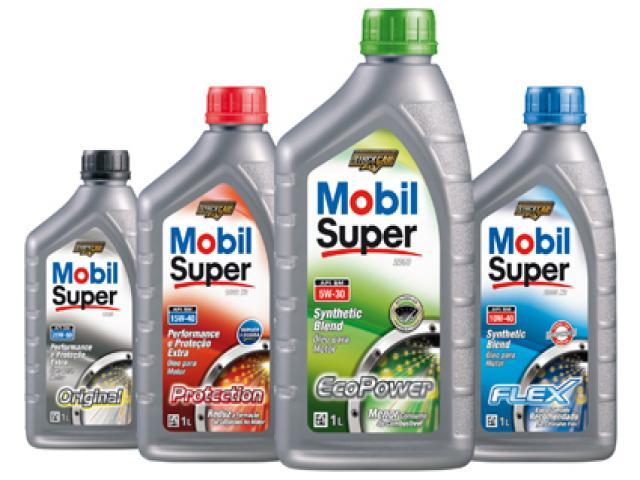 Óleos e lubrificantes Mobil